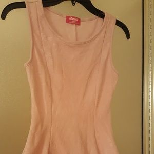 Shasa fit and flair pink top